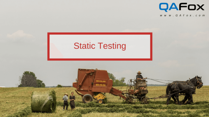 What is Static Testing?