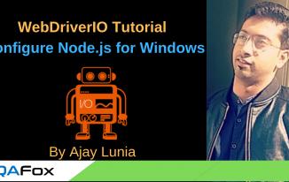WebDriverIO – Install Node.js and Configure.