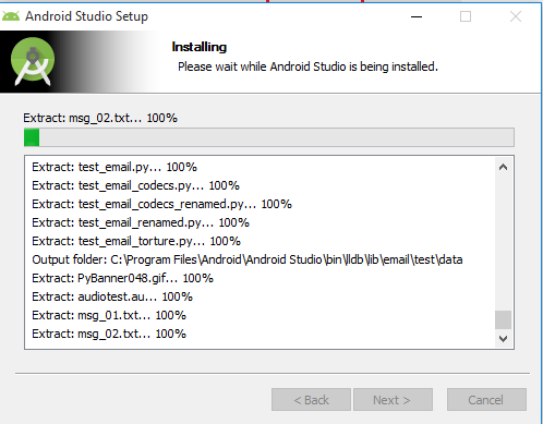 Appium - Fifth Android Studio Installation Screen