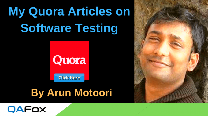 My Quora Articles on Software Testing