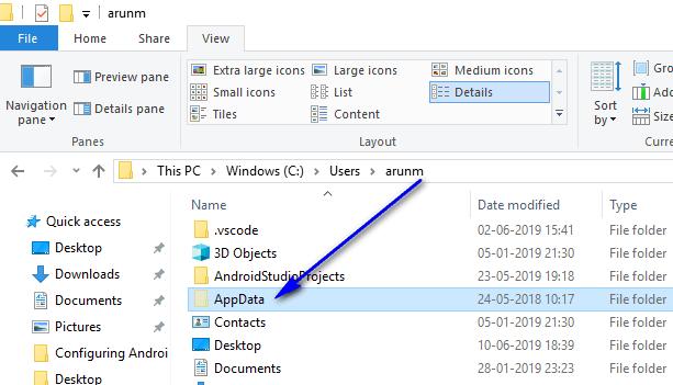 Appium - AppData folder