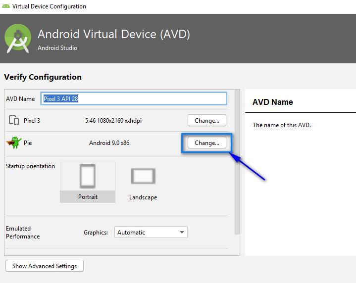 Appium - Configuring Emulator - Change OS