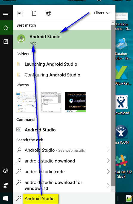 Appium - Easiest Android Studio Launching
