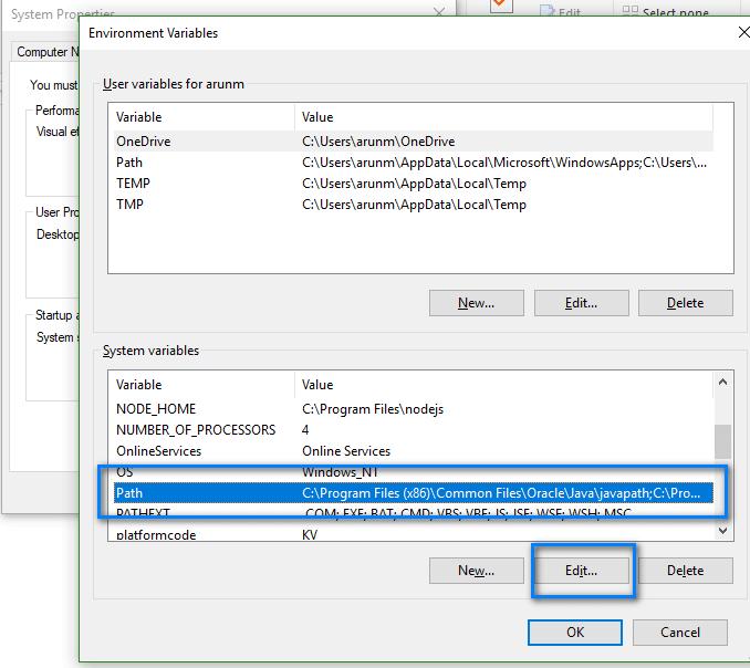 Appium - Java Configuration - Edit Path Variable