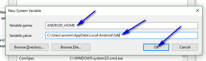Appium - New System Variable Android Home
