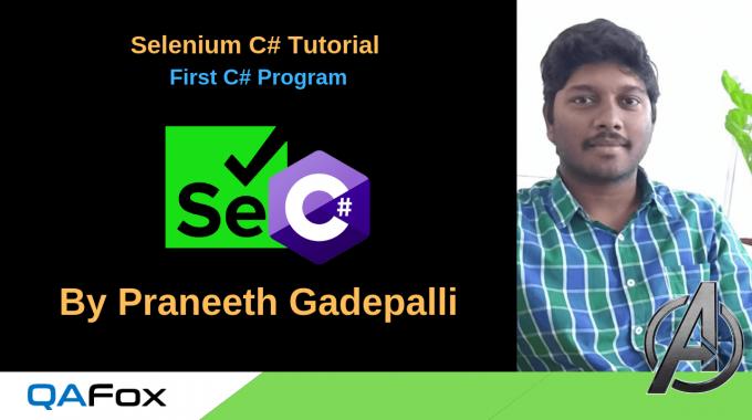 C# for Selenium – First C Sharp Program