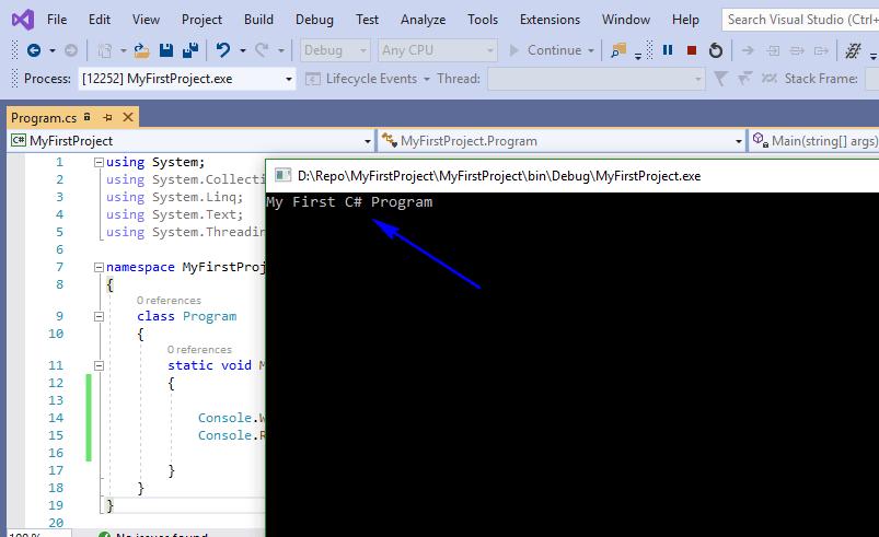 C# for Selenium - Output First Program