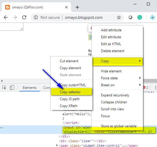 CSS Selectors Locators - Copy