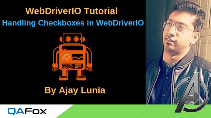 WebDriverIO – Handling Checkboxes