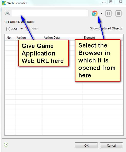 Katalon Studio - Automating Games - Game URL and Browser Selection