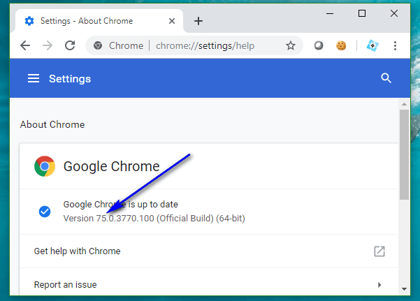 Selenium C# - Google Chrome Version