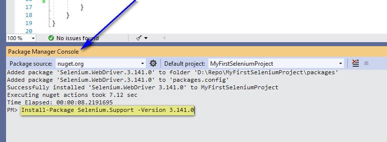 Selenium C# - Installing Selenium Support