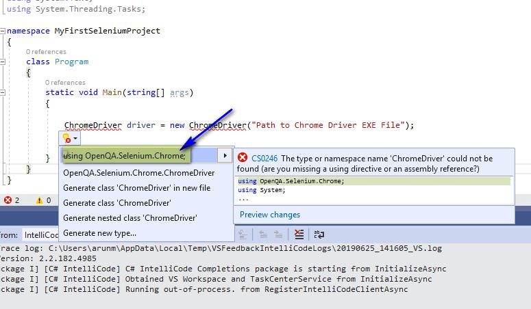 Selenium C# - OpenQA Selenium Chrome