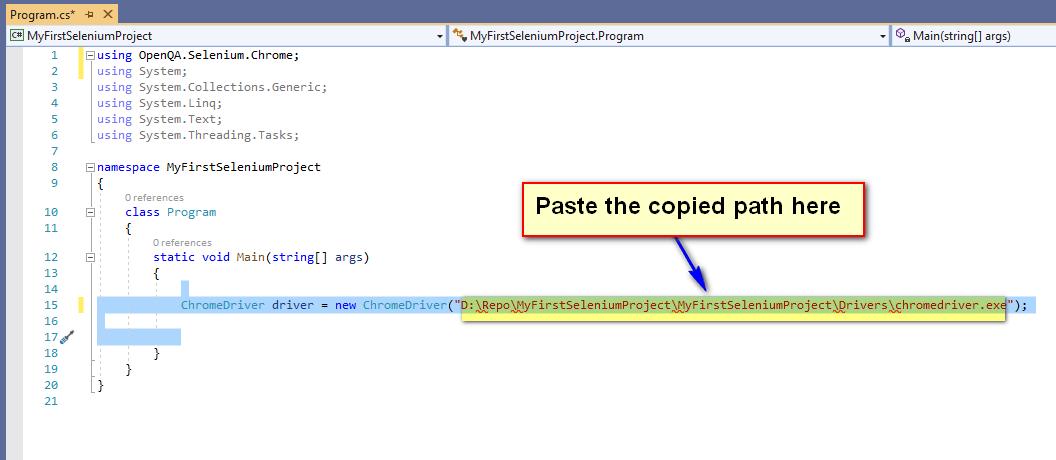 Selenium C# - Path Paste