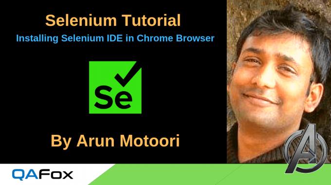 Installing Selenium IDE in Chrome Browser