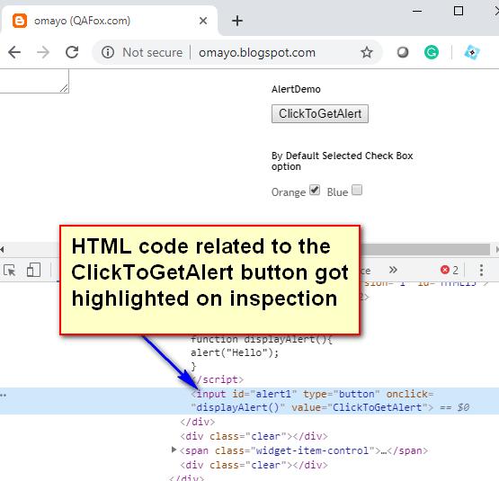 XPath Expressions Locators - Code