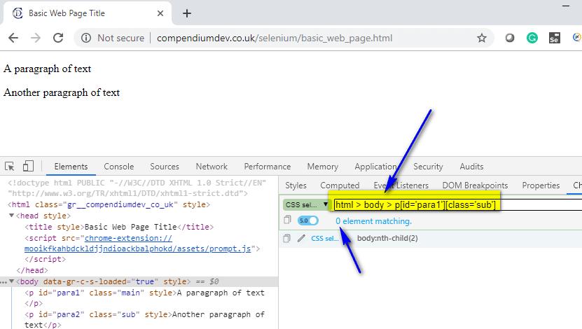 Absolute CSS Selectors - zero