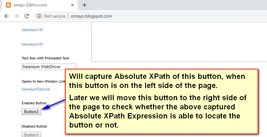 Absolute XPath Expressions - Example