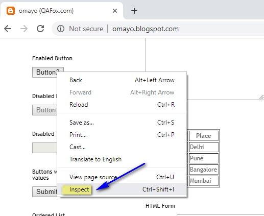 Absolute XPath Expressions - Inspect