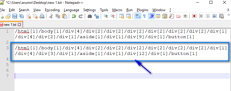 Absolute XPath Expressions - Right Side Paste
