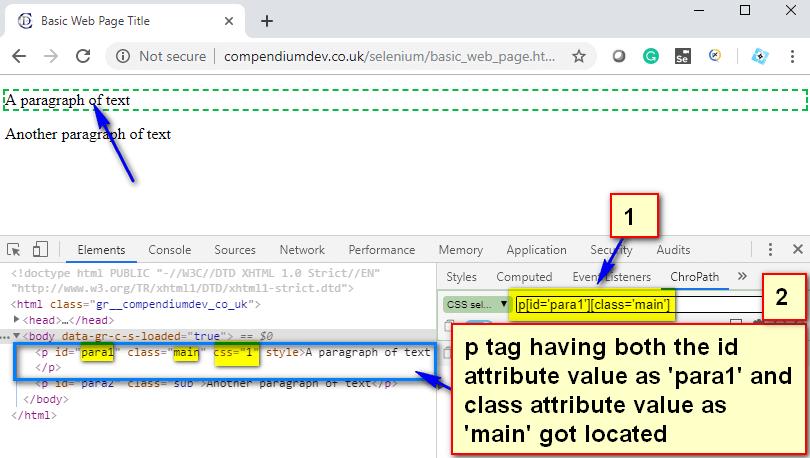 CSS Selectors - p id class