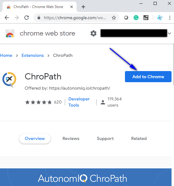 ChroPath - Add to Chrome