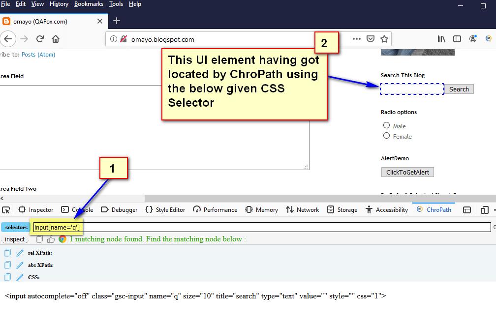 ChroPath Firefox Validation - CSS