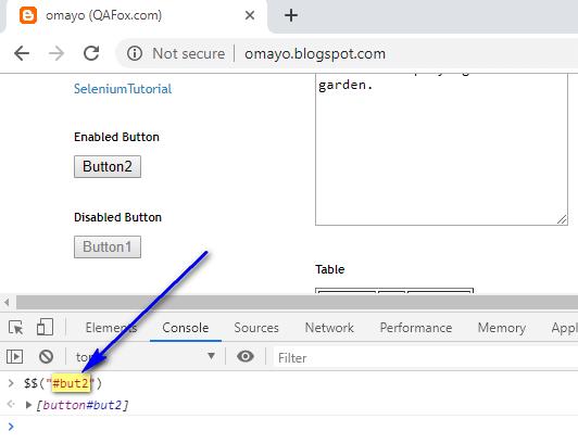 Chrome Console - Execute CSS Selector