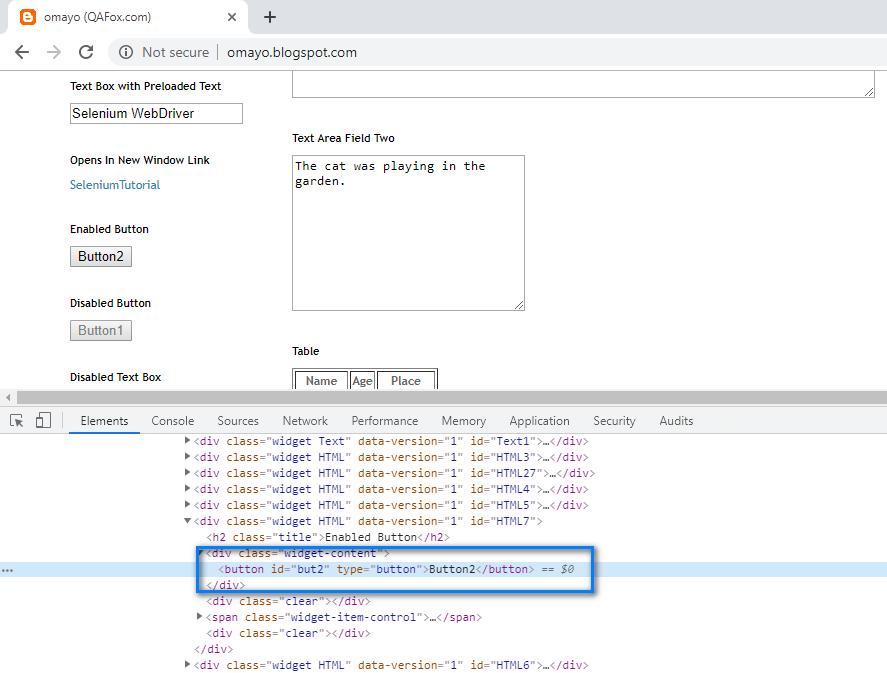 Default Chrome Dev Tools - HTML code