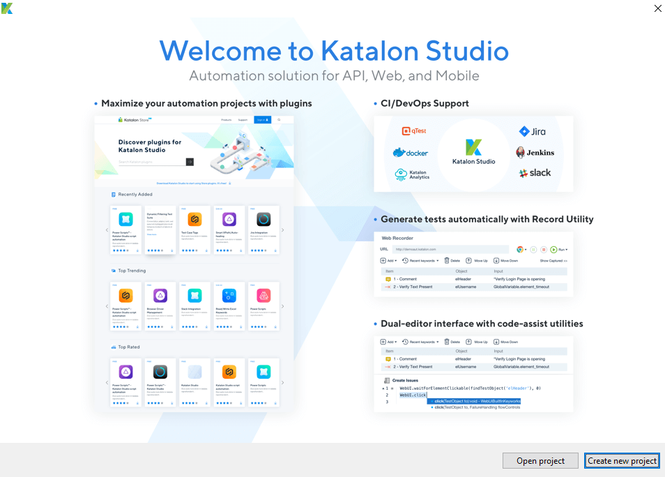 Downloading Katalon Studio - Welcome
