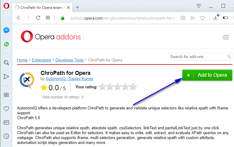 Opera Chropath - add to opera