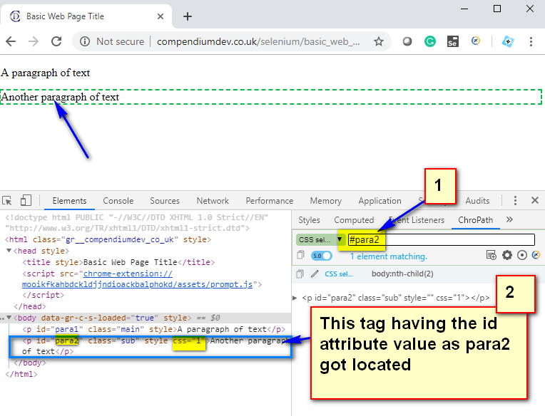 Relative CSS Selectors - anytag hash