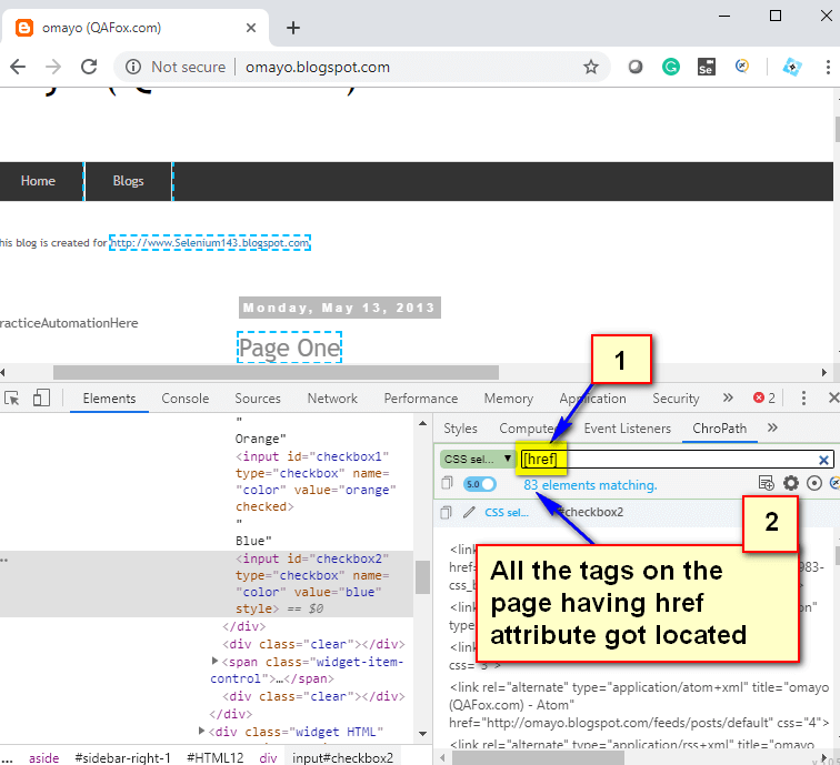 Relative CSS Selectors - href