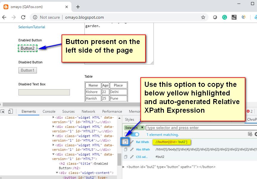 Relative XPath Expressions - Copy