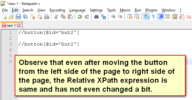 Relative XPath Expressions - No changes