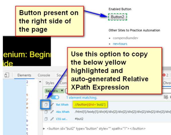 Relative XPath Expressions - copy right side xpath