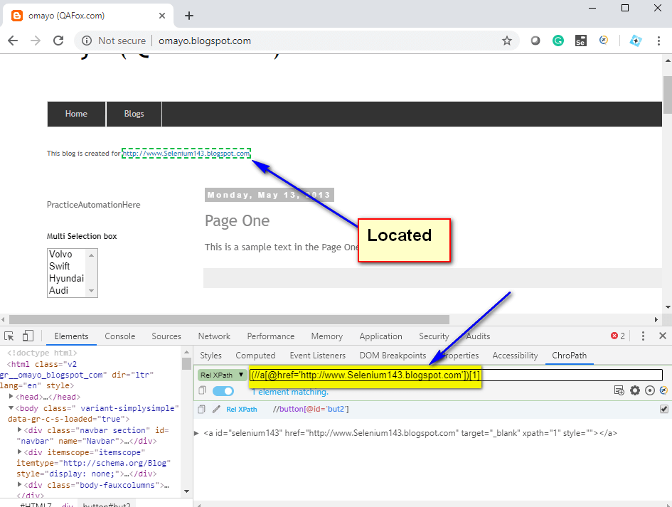 Relative XPath Expressions - first hyperlink located