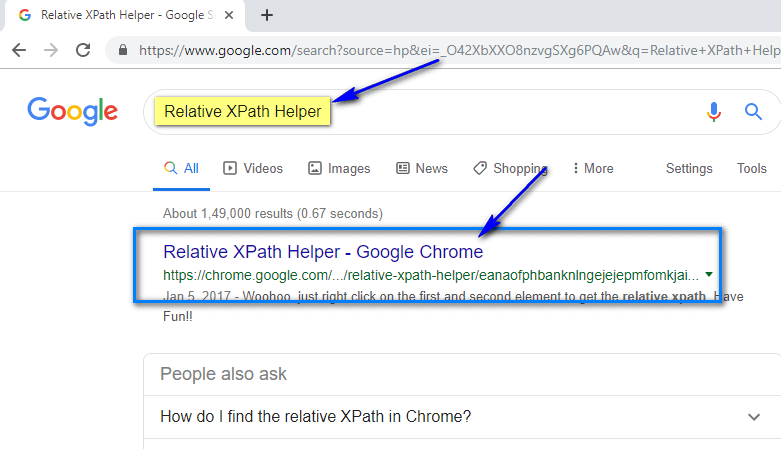 Relative XPath Helper - Search