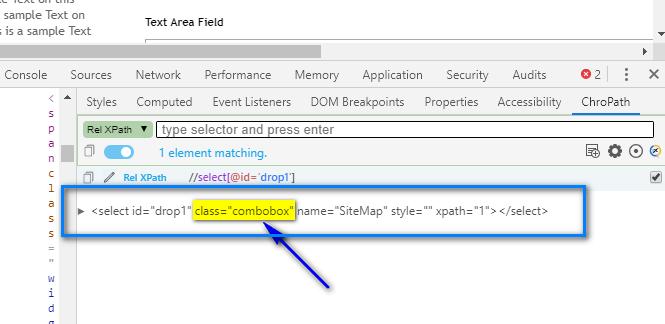 Relative XPath - dropdown html