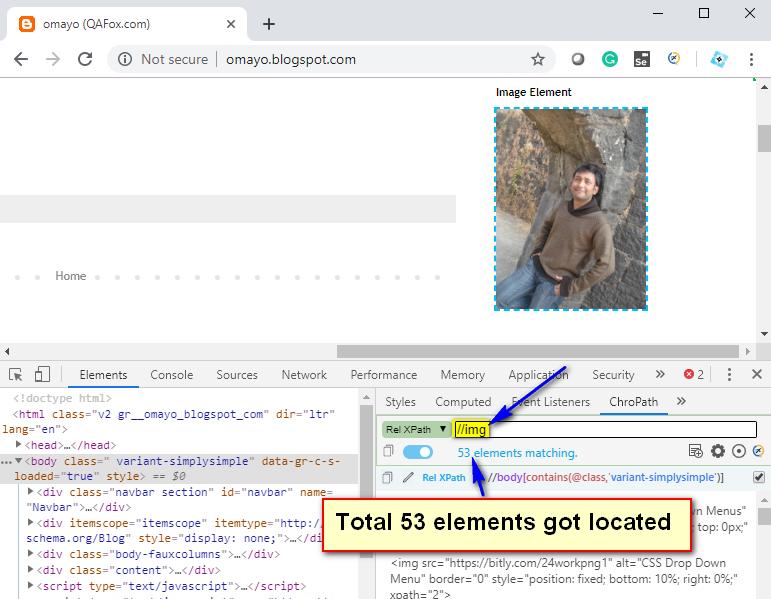 Relative XPath - img tag locator