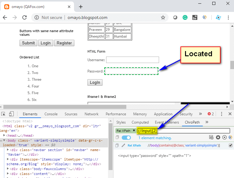 Relative XPath - second UI element located