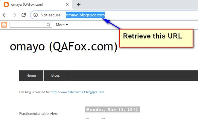 Selenium C# - Retrieving this URL