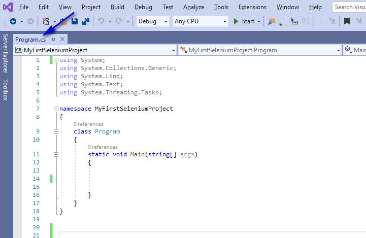 Selenium C# - programcs