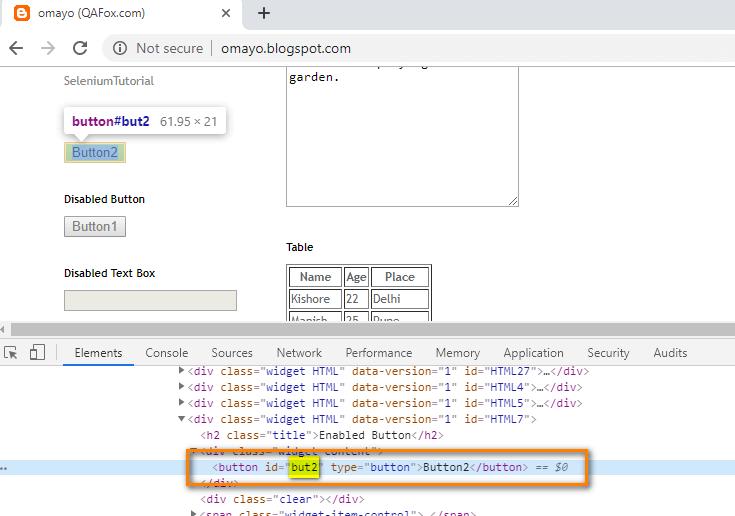 Selenium IDE - ID HTML highlight