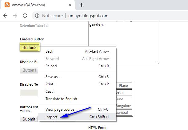 Selenium IDE - ID Inspect