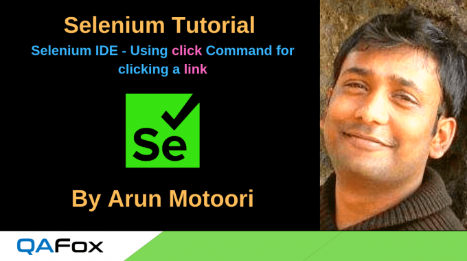 New Selenium IDE – Using click Command for clicking a link