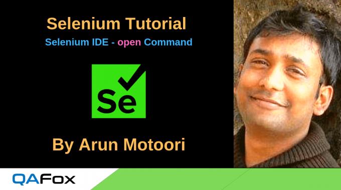 New Selenium IDE – open command
