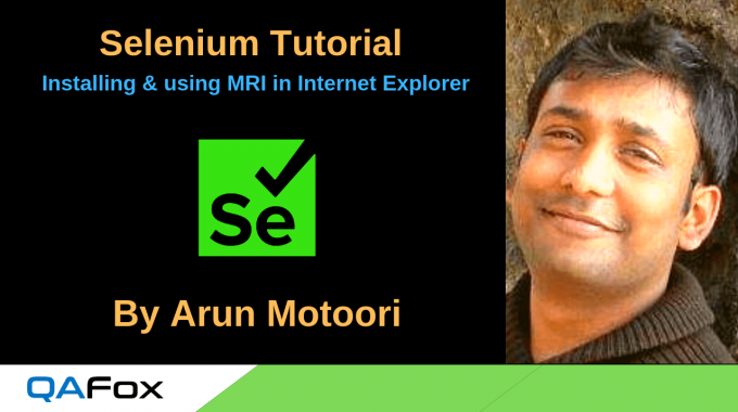 Selenium Locators – Installing and using MRI in Internet Explorer