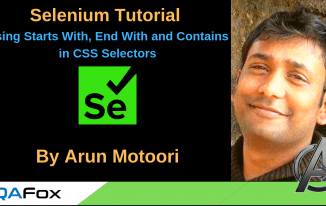 Selenium Locators – Using starts with, ends with and contains in CSS Selectors