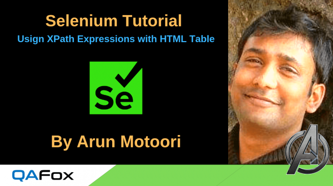 Selenium Locators – Using XPath Expressions with HTML Table